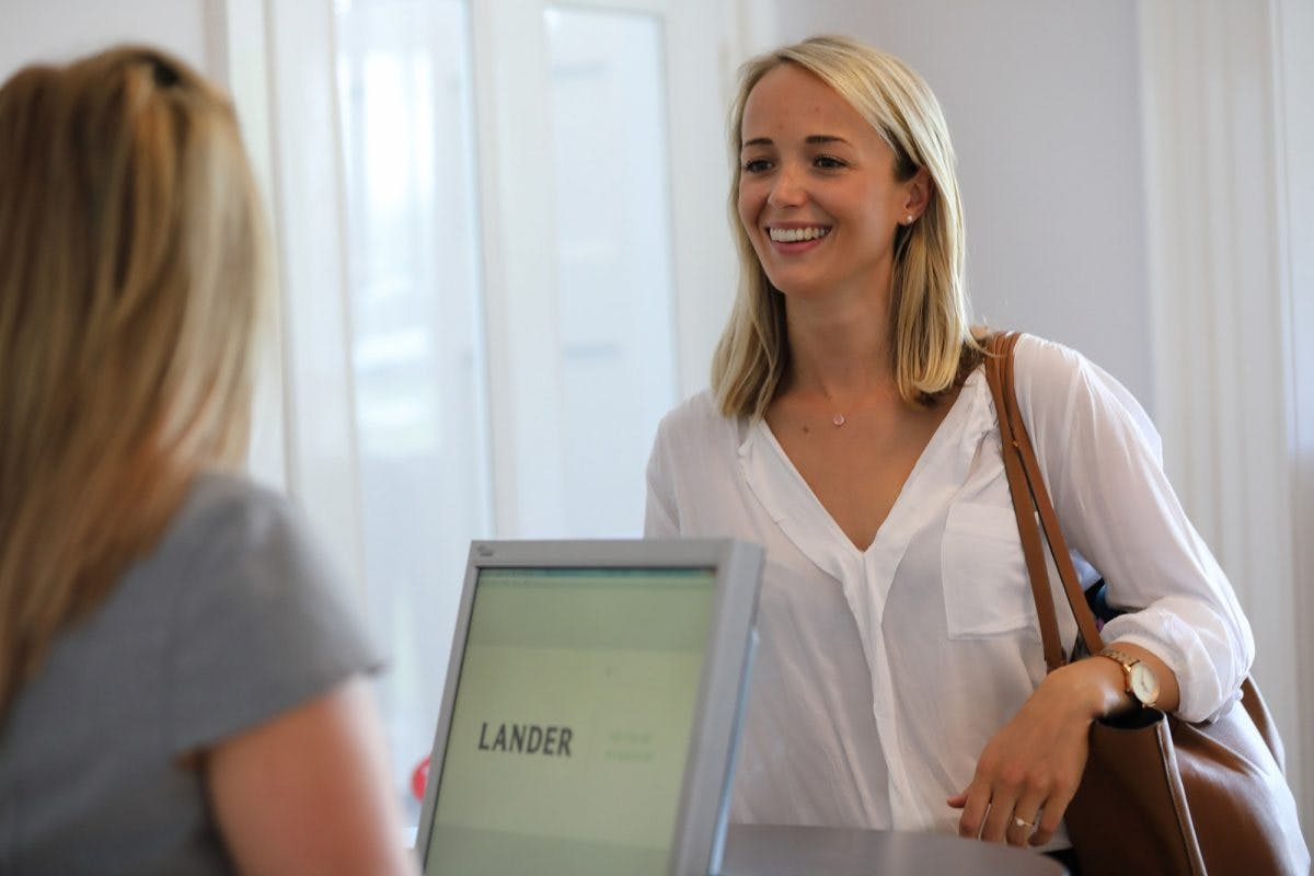 Catherin Reception With Invisalign Patient